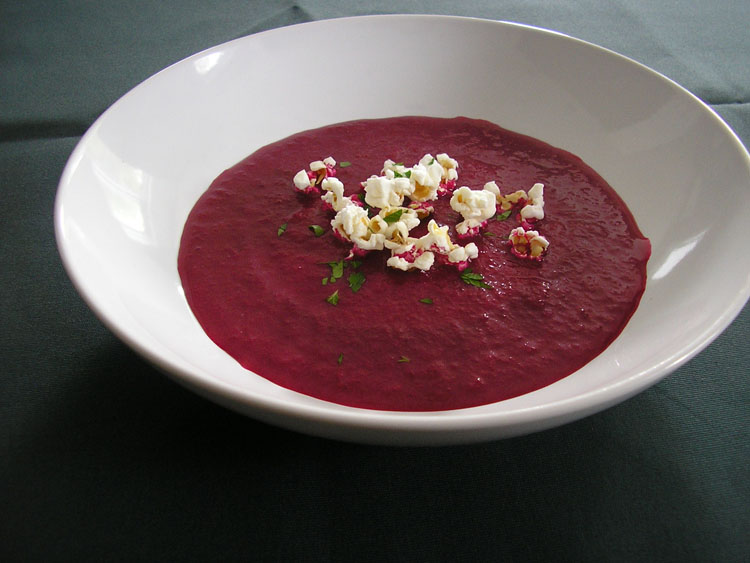 Beets and leek soup